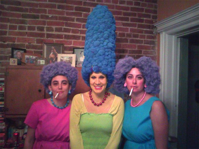 ladies the simpsons hair