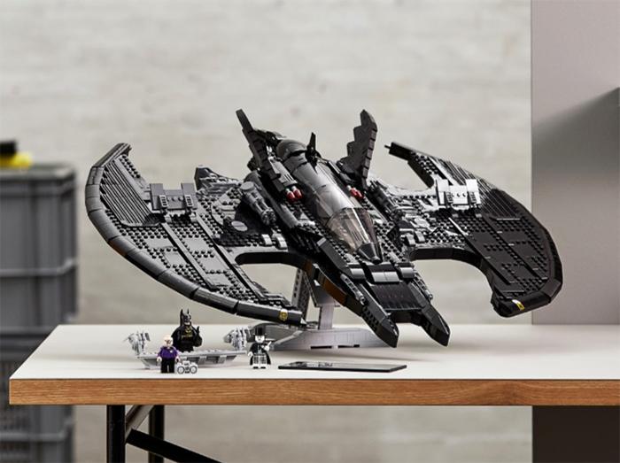 lego batwing set display