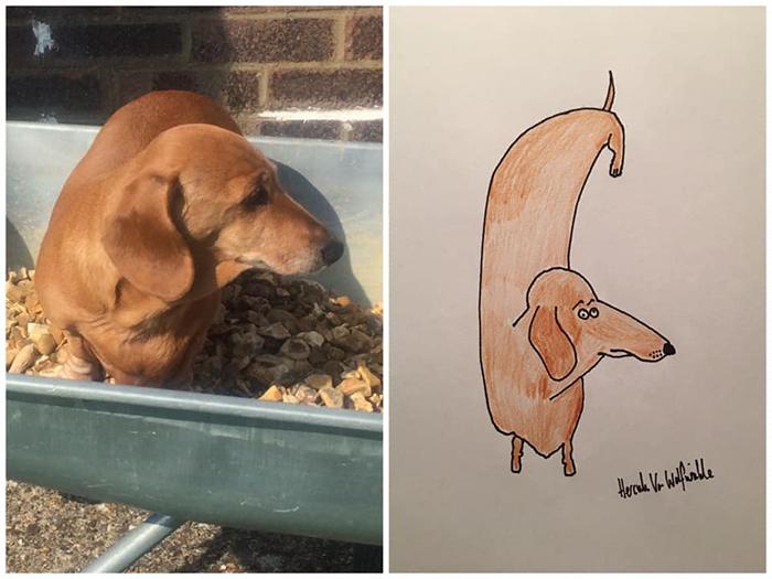 lousy animal drawings huggy