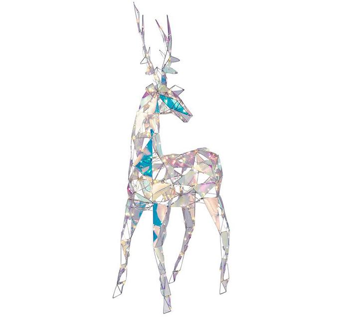 lustrous angular reindeer statue
