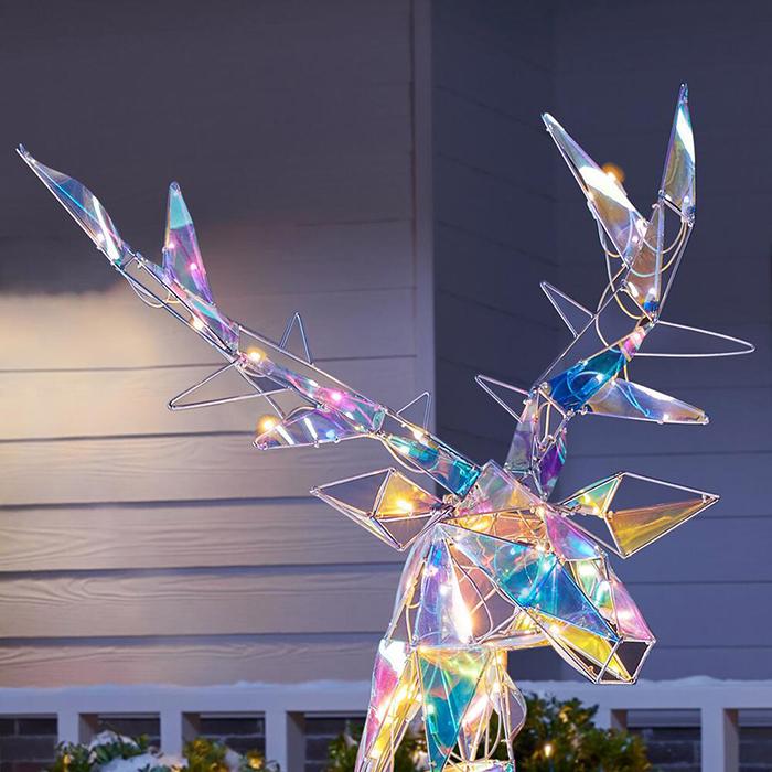 lustrous reindeer statue antlers