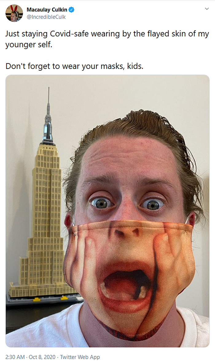 macaulay culkin home alone face mask