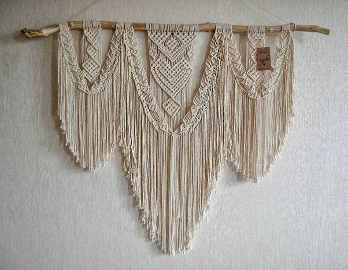 macrame wall hanging by cottonriver