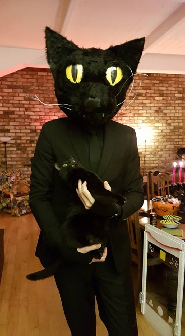man dresses up as his cat