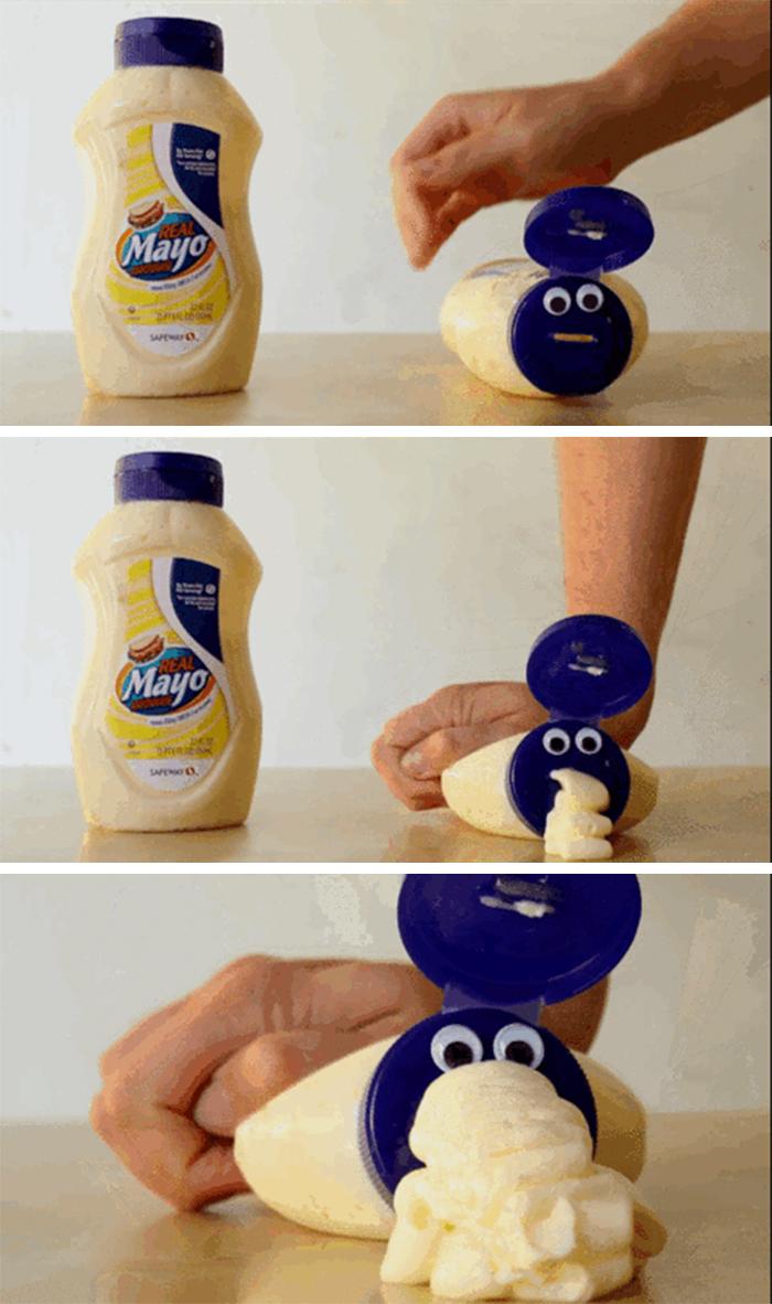 mayonnaise bottle monster