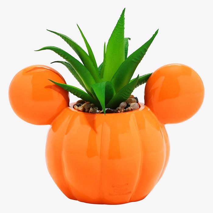 mickey mouse jack-o-lantern planter back
