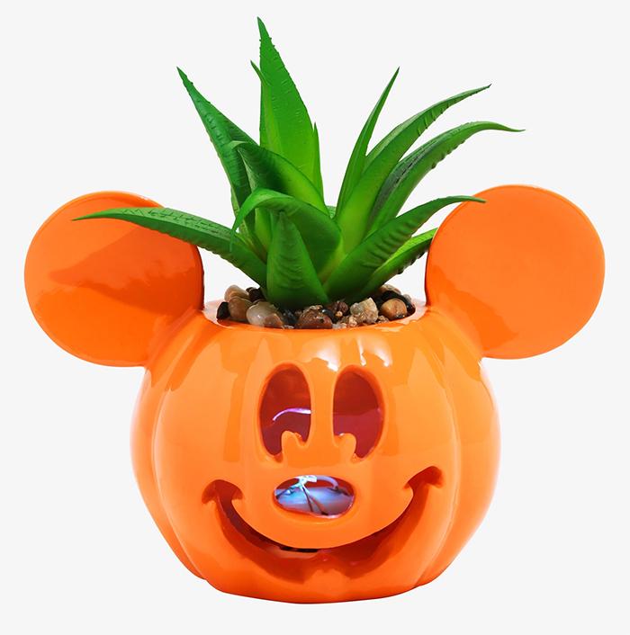 mickey mouse jack-o-lantern planter