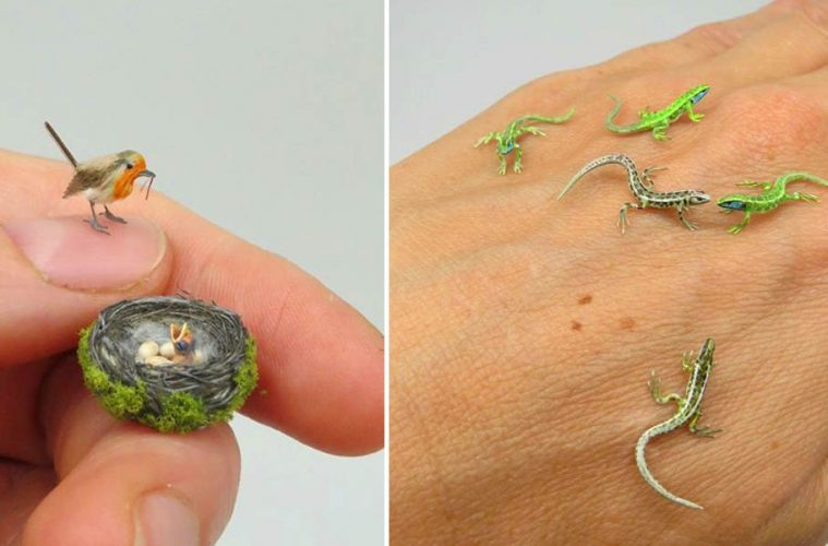 miniature animal sculptures