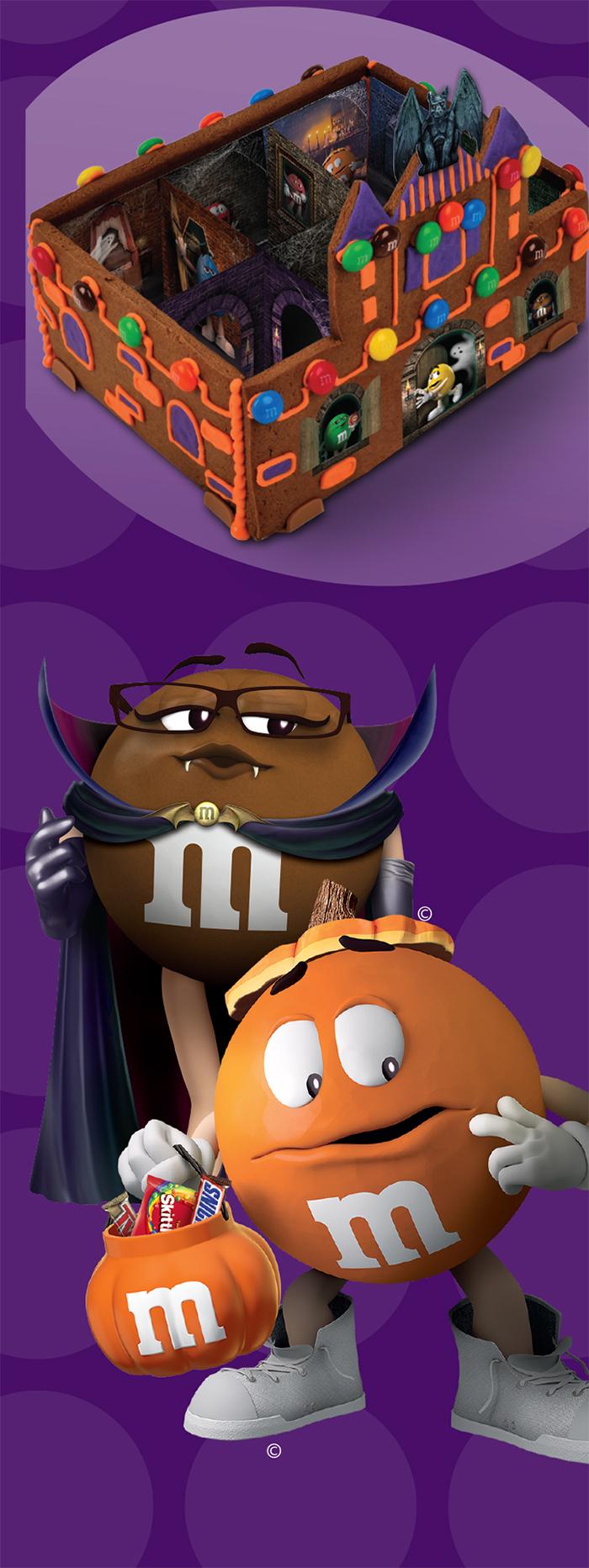 m&m's haunted castle chocolate cookie kit halloween