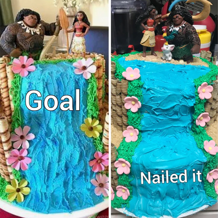 moana cake goal nailed it