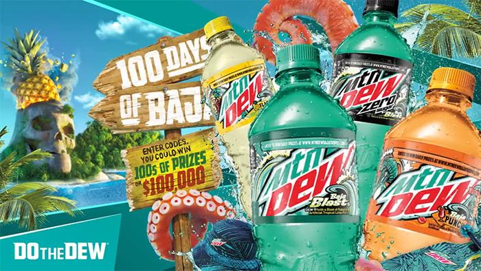 mountain dew 100 days of baja