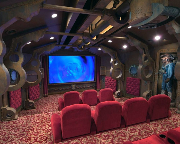 nautilus themed amazing home theaters
