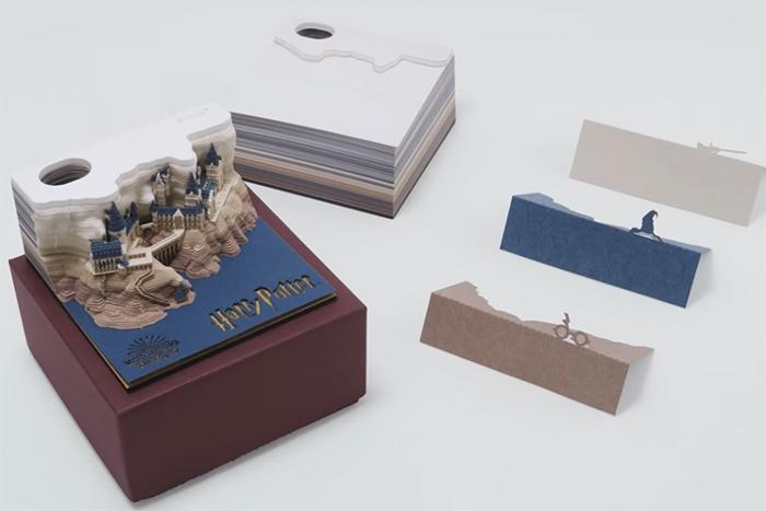 omoshiroi block harry potter note pad pop up design