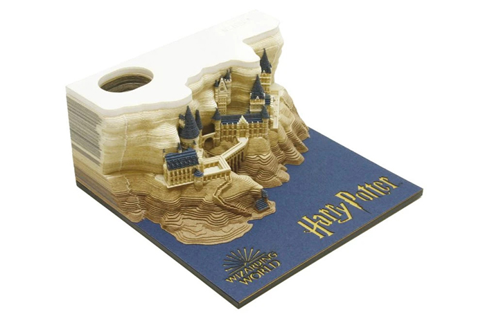 omoshiroi block hogwarts castle memo pad