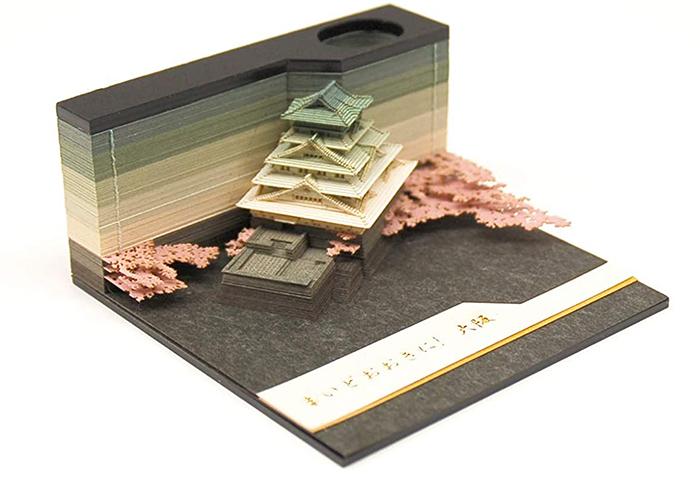 omoshiroi block note pad osaka castle