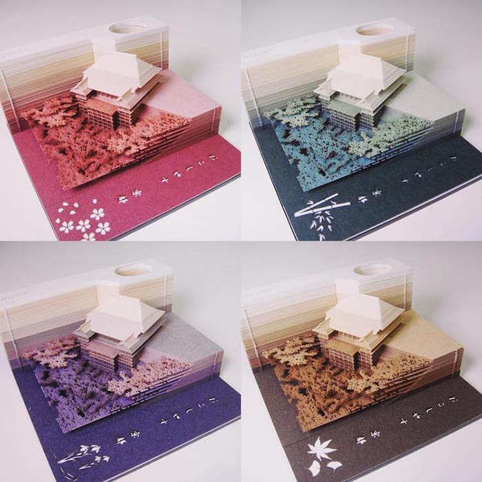 omoshiroi note pad kyoto model in four colorways