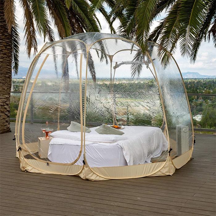 outdoor bubble tent transparent panels