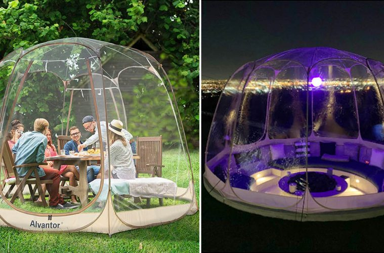 outdoor bubble tents