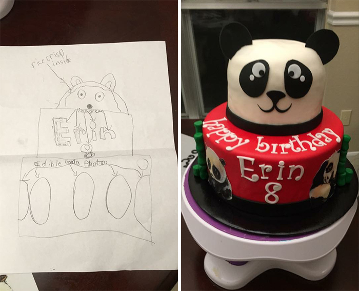 panda birthday cake better than expected