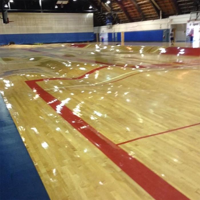 pipes bursting basketball court