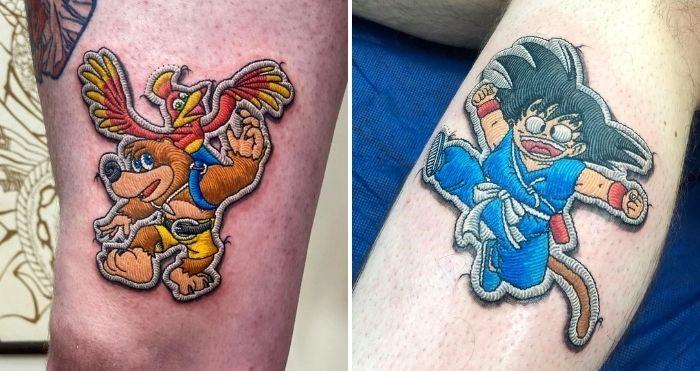 pop culture patch tattoos