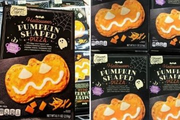 pumpkin-shaped pizza