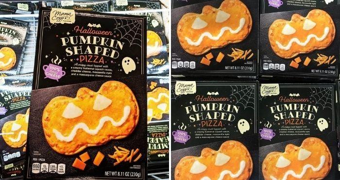 pumpkin-shaped pizza