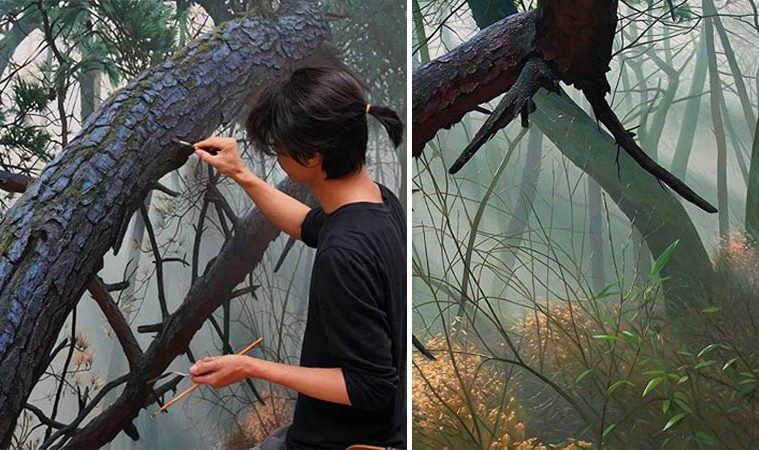 realistic nature paintings