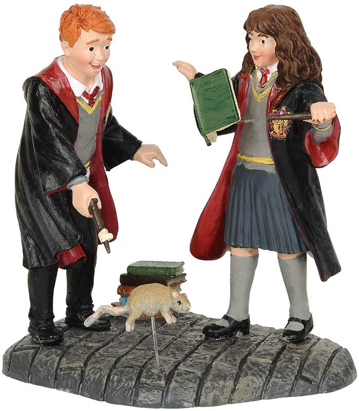 ron and hermione figurine set