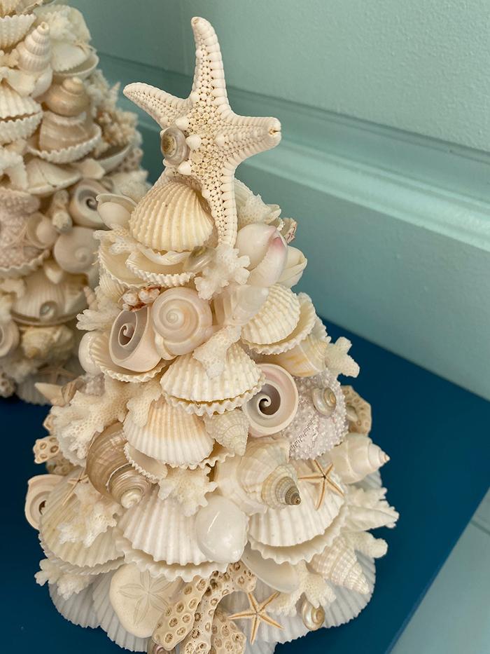 seashell christmas tree by kp seashell designs
