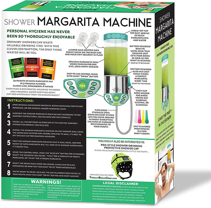 shower margarita machine prank gift box back