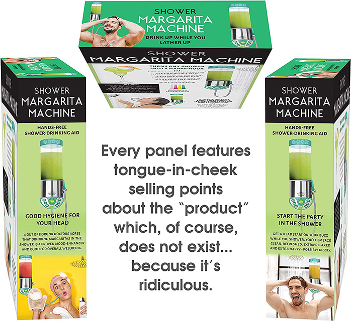 shower margarita machine prank gift box