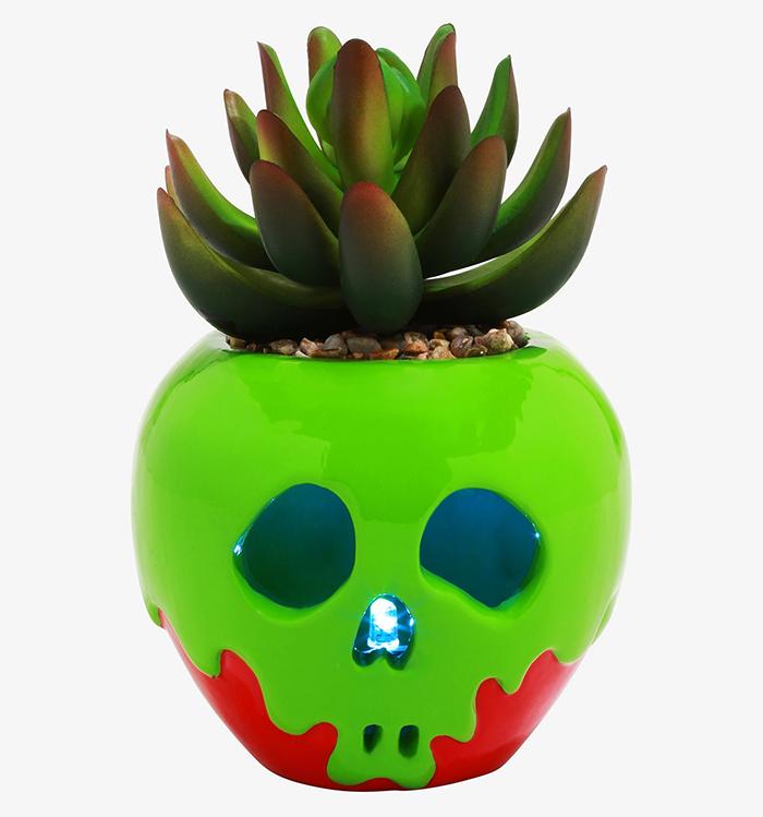 snow white poisoned apple planter
