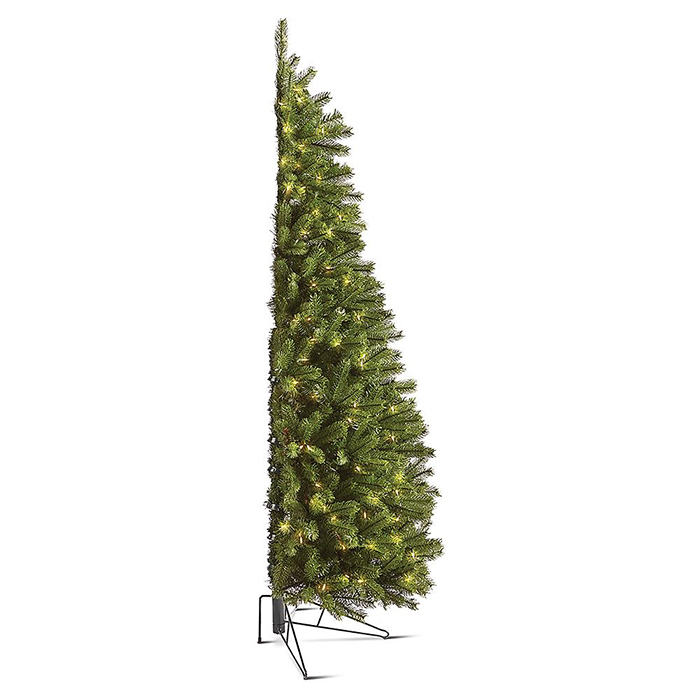 space-saving corner holiday tree