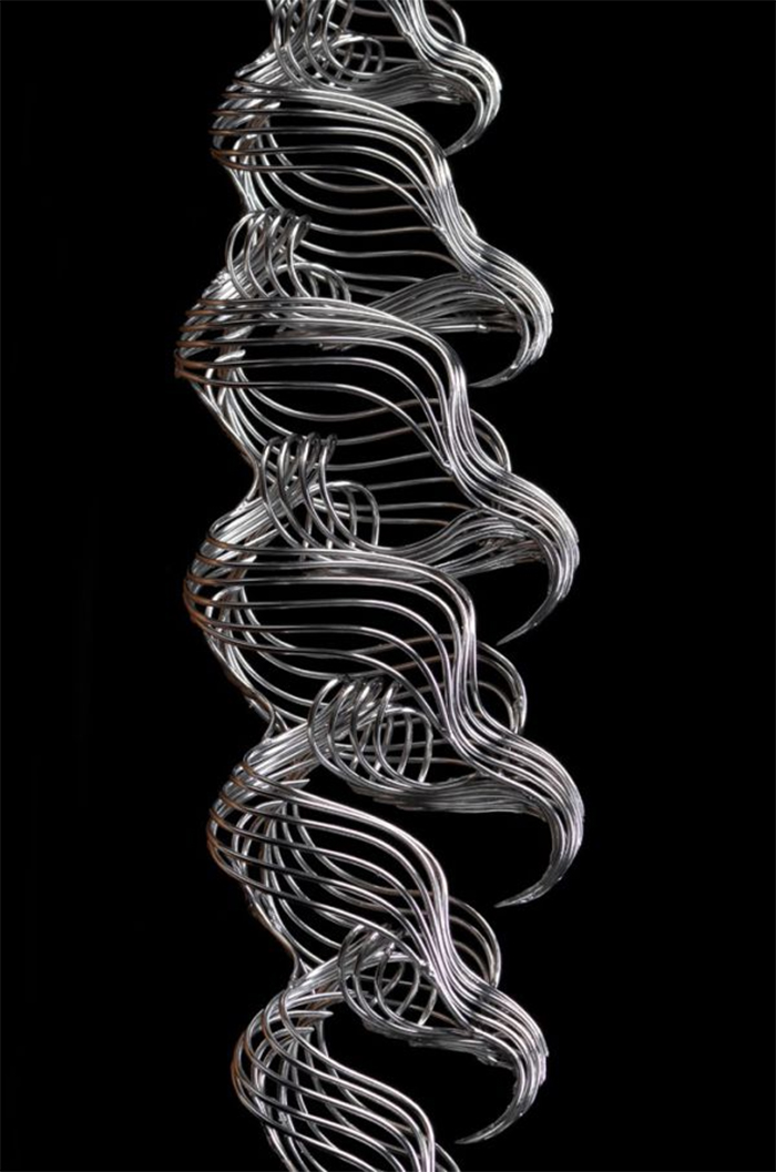 steel wire sculptures imaginary structure 2