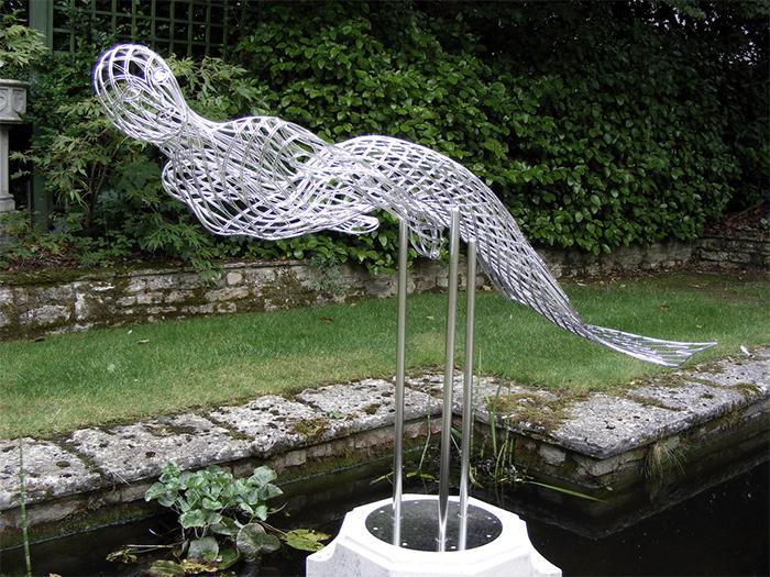 steel wire sculptures mermaid 2
