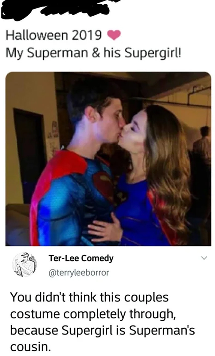 superman and supergirl couple costume