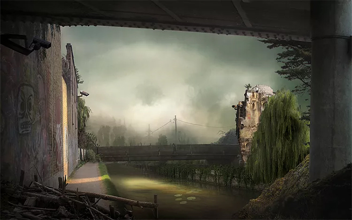 suzanne moxhay matte painting eventide