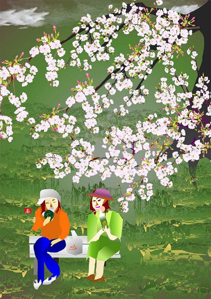 tatsuo horiuchi cherry blossom viewing picnic