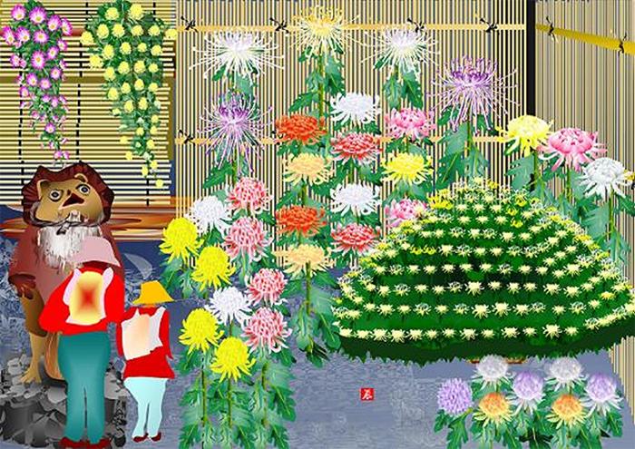 tatsuo horiuchi the exhibition of chrysanthemum
