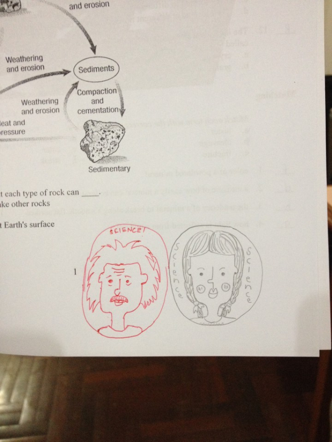 teacher doodles albert einstein