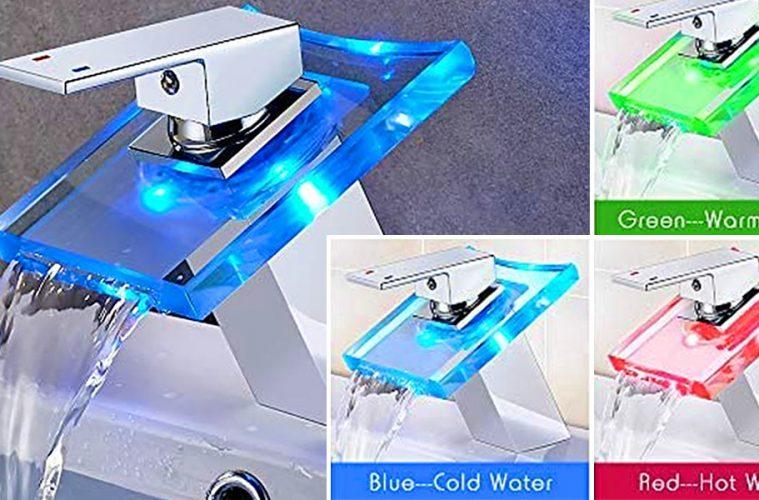 temperature LED faucet