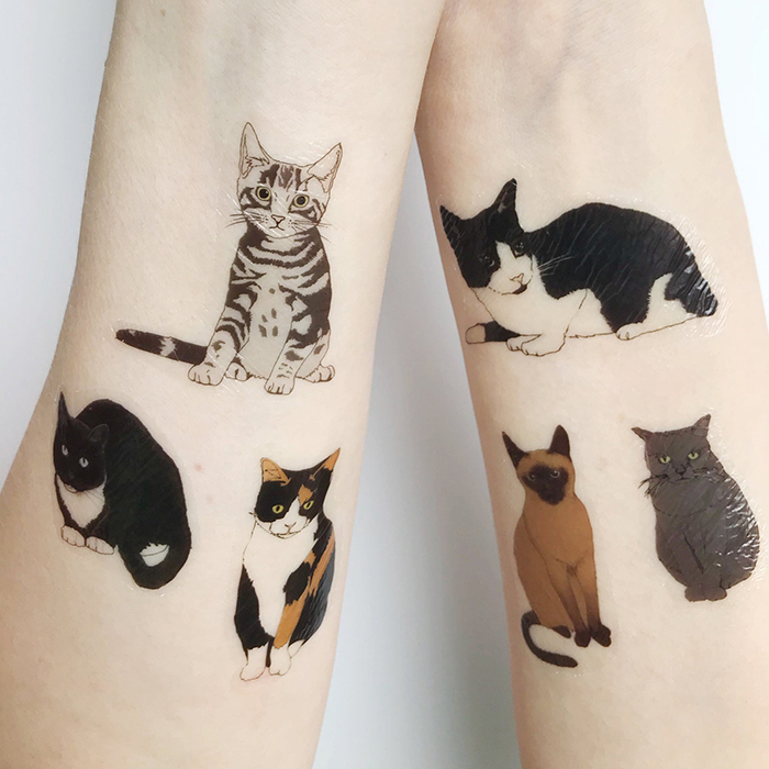 temporary cat tattoos by katebroughton