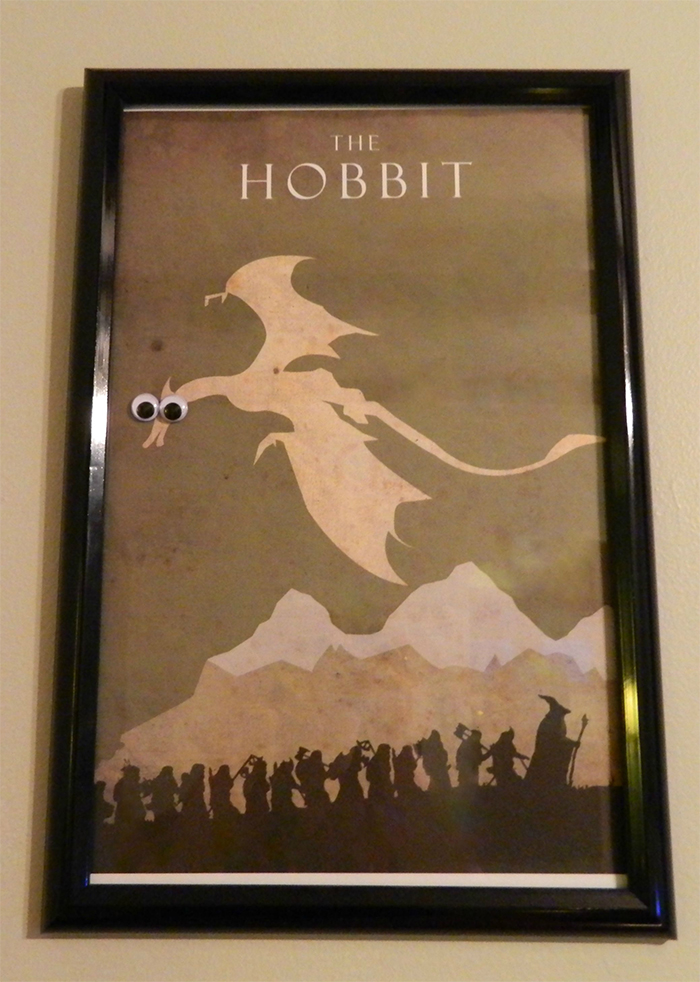 the hobbit poster wide-eyed dragon