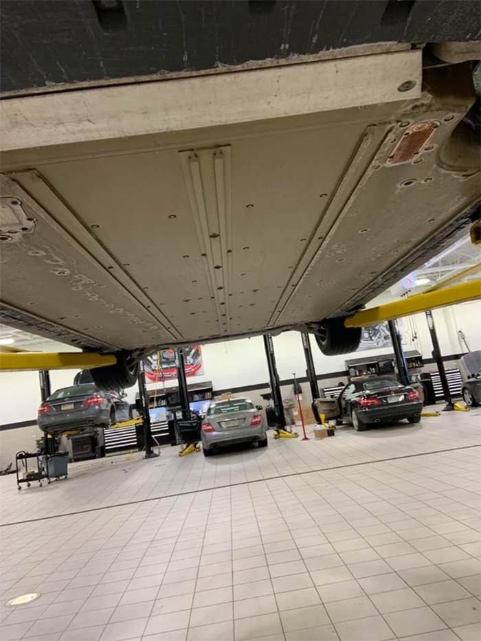 undercarriage of tesla