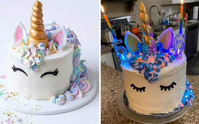 unicorn cake turned out better than expected