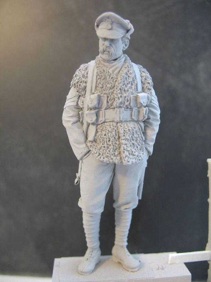 unpainted soldier model
