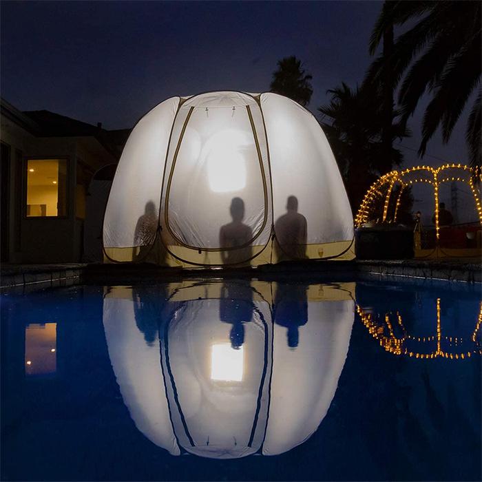 weather pod backyard camping