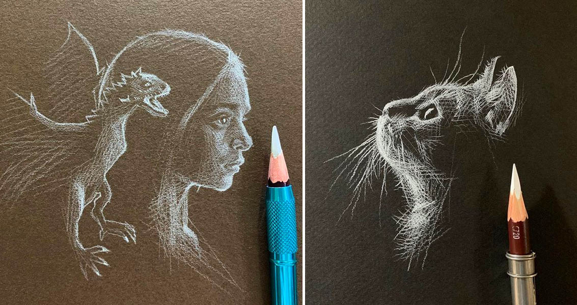 Artist Kay Lee Creates Striking Drawings Using White ...