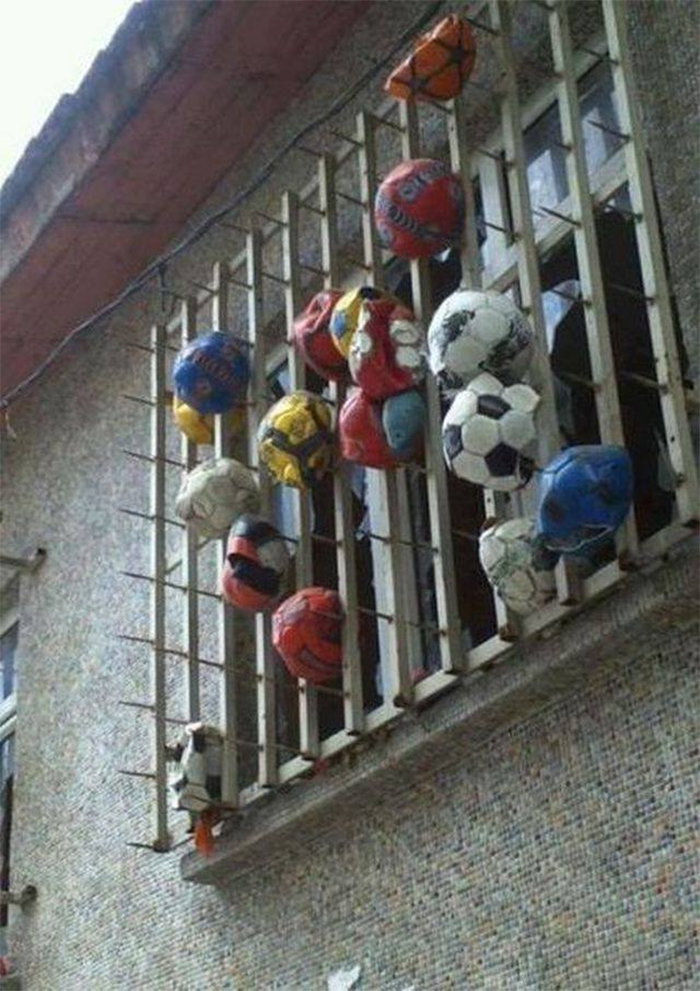 window protection against balls